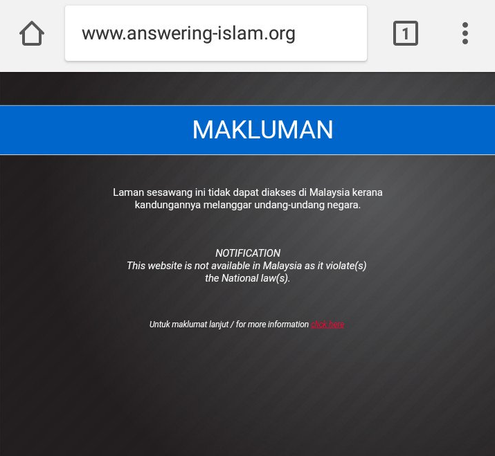 MCMC Block for Answering Islam web site